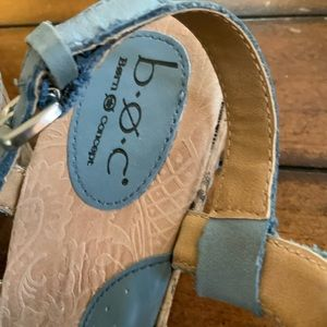 boc Shoes - BOC born concepts blue leather wedge sanda…